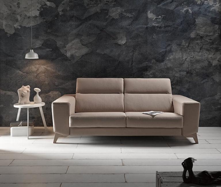sillon sofa comodo elegante marron
