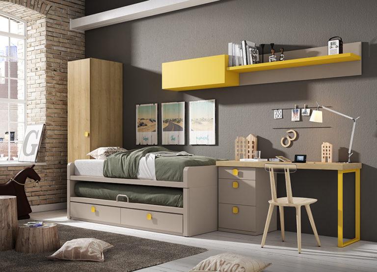 cama doble dormitorio dos camas
